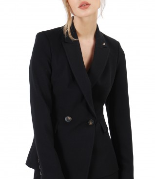 Office fabric jacket embellished with crystals from Swarovski<sup style=font-size:0.5em></sup>