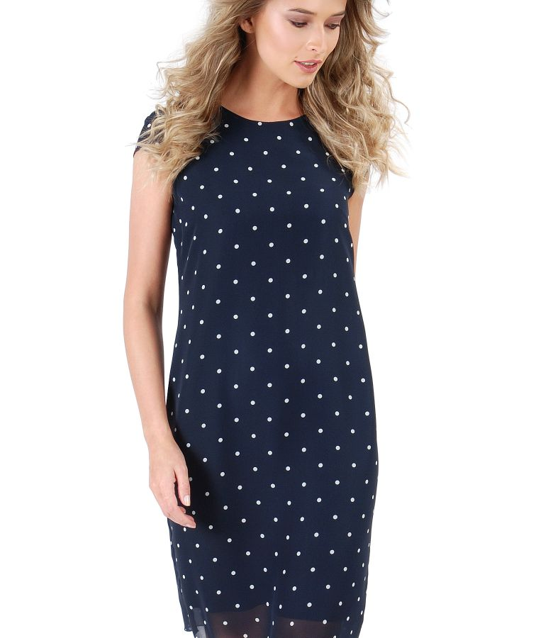 Veil dress with dots print