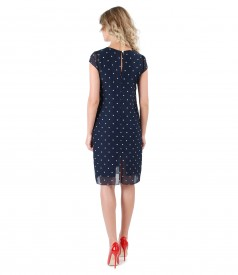 Veil dress with dots print
