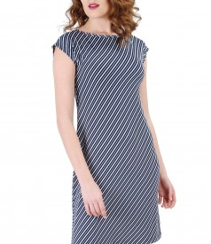 Midi dress with stripes