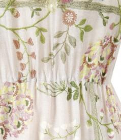 Viscose elegant dress with floral print