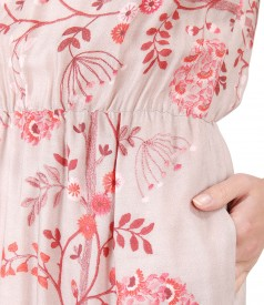 Elegant viscose dress with floral print