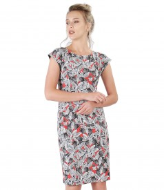 Midi dress made of elastic jersey with print