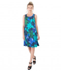 Jersey casual dress with elastic trim