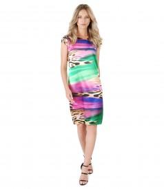 Elegant dress with animal print