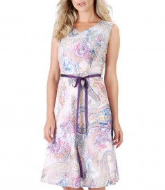 Elegant dress made of printed cotton