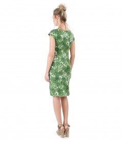 Jersey dress with floral print