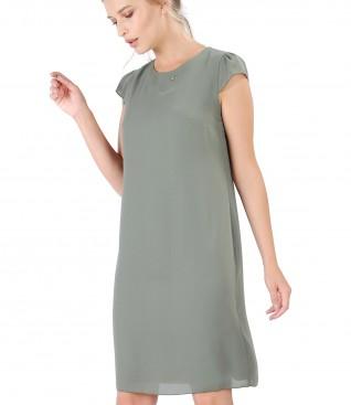 Veil dress with Swarovski crystals