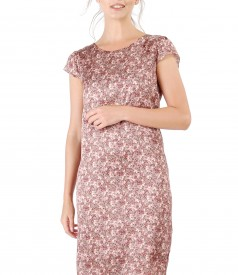 Silk dress with floral print
