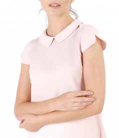 Elegant blouse with round collar