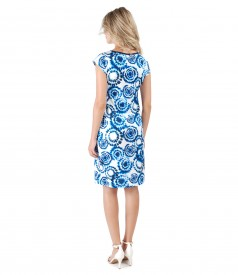 Thin elastic printed jersey dress