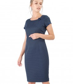 Elegant cotton dress with Swarovski pearls inserts