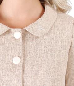 Cotton jacket with Swarovski crystals inserts