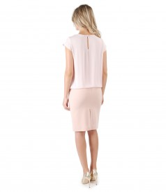 Tapered skirt with blouse and front folds