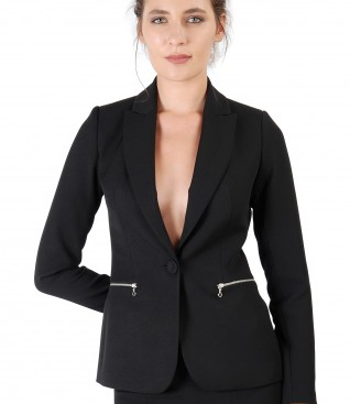 Office jacket with decorative zipper