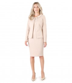 Elegant outfit with jacket and cotton dress