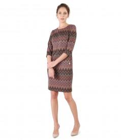 Elegant dress with golden lurex thread