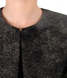 Bolero made of printed elastic velvet