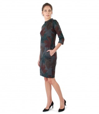 Midi dress made of elastic jersey