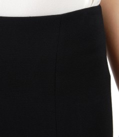 Office skirt with zipper