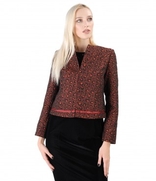 Jacket made of brocade with a bow made of rips