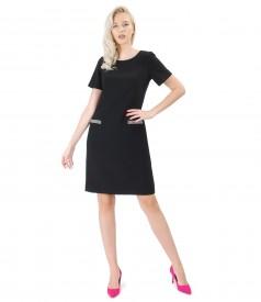 Elegant dress made of black elastic fabric