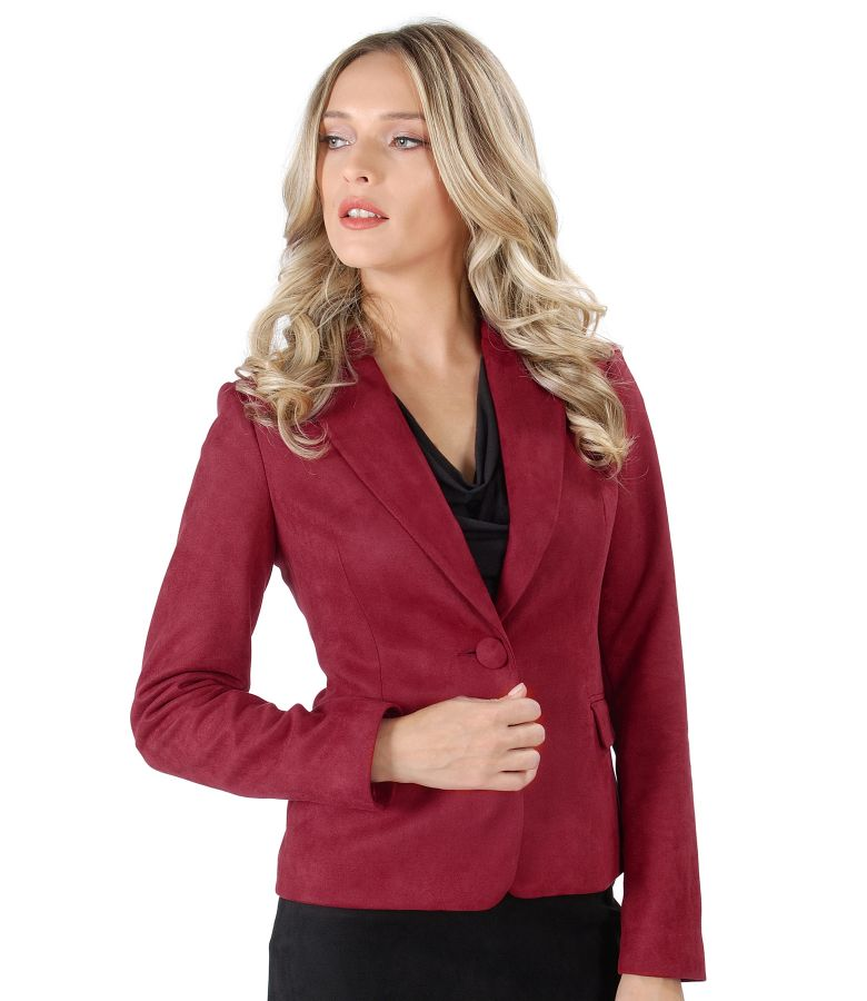 Fabric jacket with velvet look