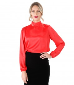 Viscose blouse with long sleeves