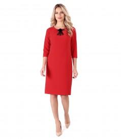 Elegant dress with detachable brush