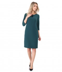 Elegant dress with detachable brush