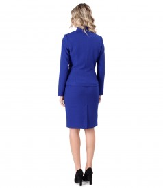 Office woman suit with skirt and jacket made of elastic fabric