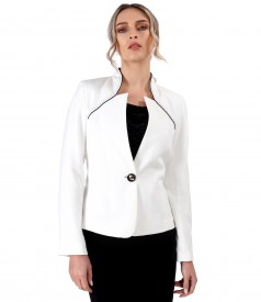 Office jacket with contrast trim