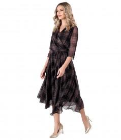 Veil dress with plaid