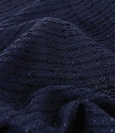 Viscose loops jacket with neckline brooch