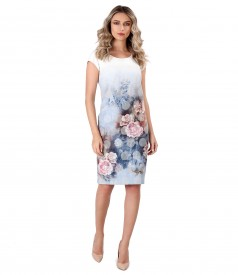 Elegant dress with floral motifs