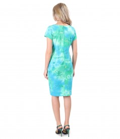 Casual dress made of elastic cotton jersey