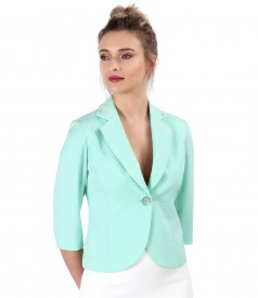 Office jacket made of textured cotton