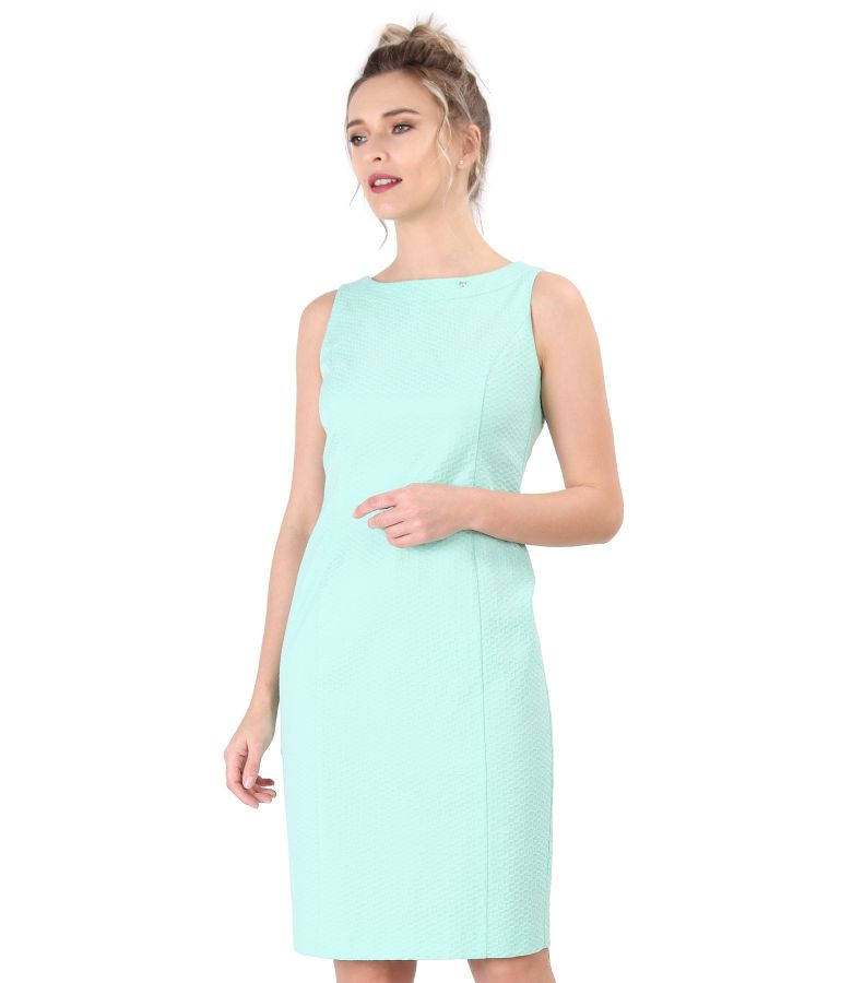 Midi dress made of textured cotton