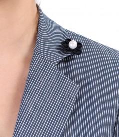 Elastic cotton jacket with stripes
