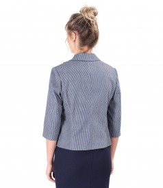 Elastic cotton jacket with stripes