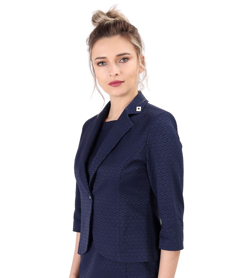 Office jacket made of textured fabric