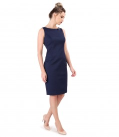 Midi dress made of textured cotton accessory