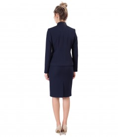Office women suit with skirt and elastic fabric jacket