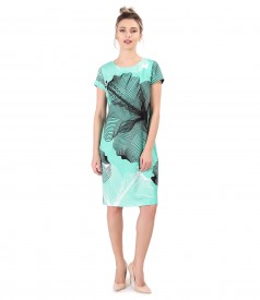 Casual dress printed with geometric motifs