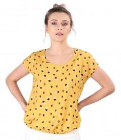 Elegant viscose blouse printed with dots