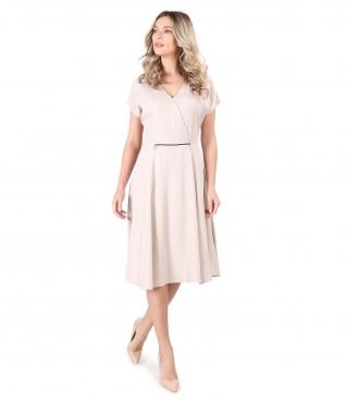 Elegant viscose uni dress