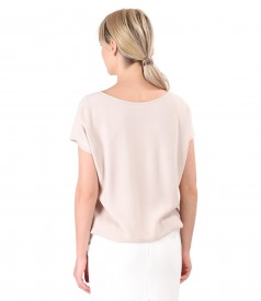 Casual blouse made of uni viscose