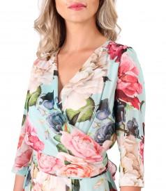 Veil dress with detachable scarf cord