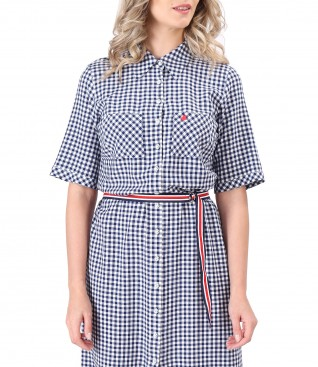 Shirt dress made of viscose