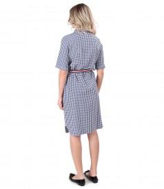 Shirt dress made of viscose